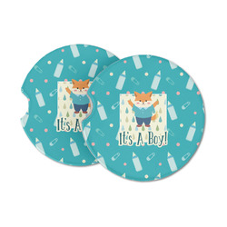Baby Shower Sandstone Car Coasters (Personalized)