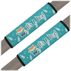 Baby Shower Seat Belt Covers (Set of 2) (Personalized)