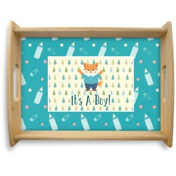 Baby Shower Natural Wooden Tray - Large (Personalized)