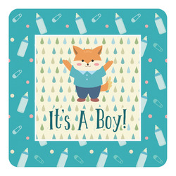 Baby Shower Square Decal (Personalized)