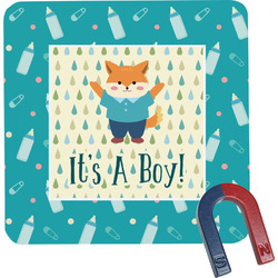 Baby Shower Square Fridge Magnet (Personalized)