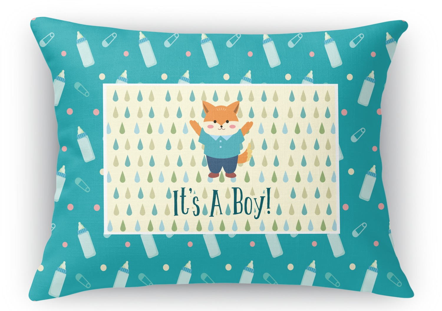 Rectangular Throw Pillow Dimensions : Baby Shower Rectangular Throw Pillow - 18