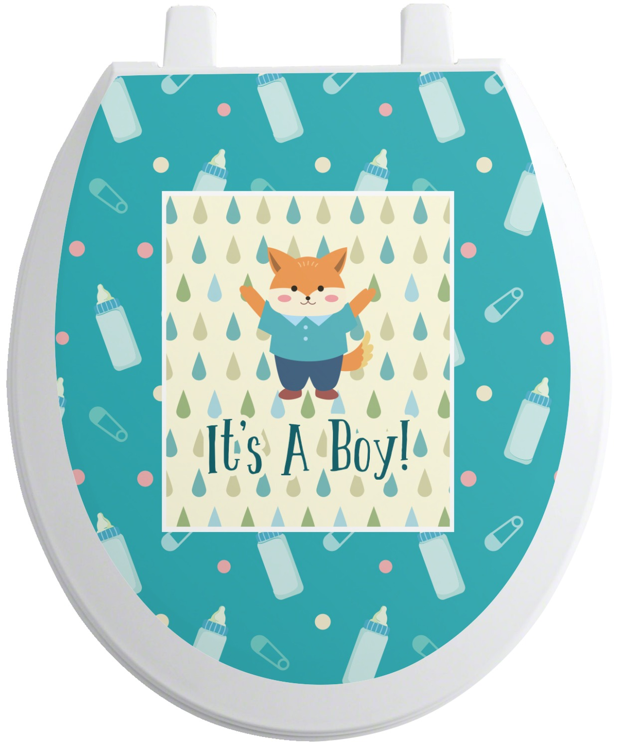 Baby Shower Seating: Baby Shower Toilet Seat Decal