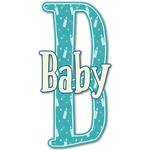 Baby Shower Name & Initial Decal - Custom Sized (Personalized)