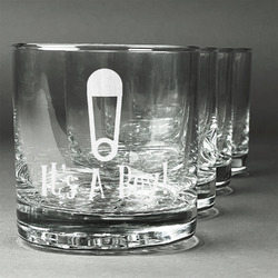 Baby Shower Whiskey Glasses (Set of 4) (Personalized)