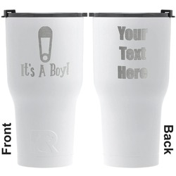 Baby Shower RTIC Tumbler - White - Engraved Front & Back (Personalized)