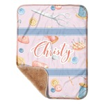 """Sewing Time Sherpa Baby Blanket 30"""" x 40"""" (Personalized)"""