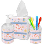 Sewing Time Acrylic Bathroom Accessories Set w/ Name or Text