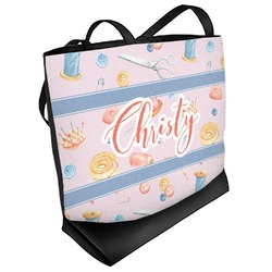 Sewing Time Beach Tote Bag (Personalized)