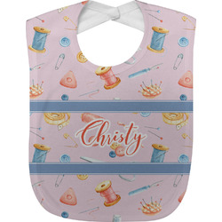 Sewing Time Baby Bib (Personalized)