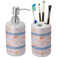 Sewing Time Bathroom Accessories Set (Ceramic) (Personalized)