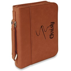 Sewing Time Leatherette Book / Bible Cover with Handle & Zipper (Personalized)