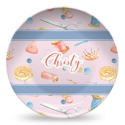 Sewing Time Microwave Safe Plastic Plate - Composite Polymer (Personalized)