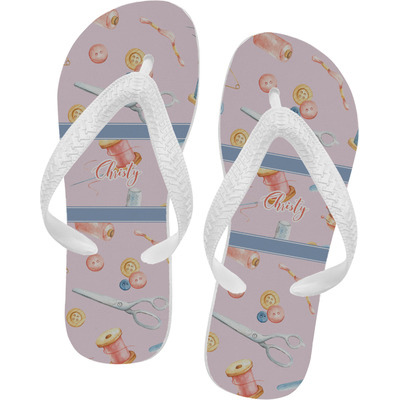 Sewing Time Flip Flops (Personalized)