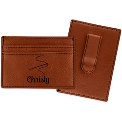 Sewing Time Leatherette Wallet with Money Clip (Personalized)