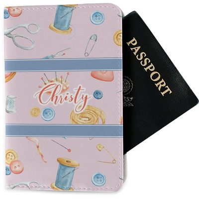 Sewing Time Passport Holder - Fabric (Personalized)