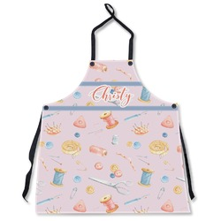 Sewing Time Apron Without Pockets w/ Name or Text