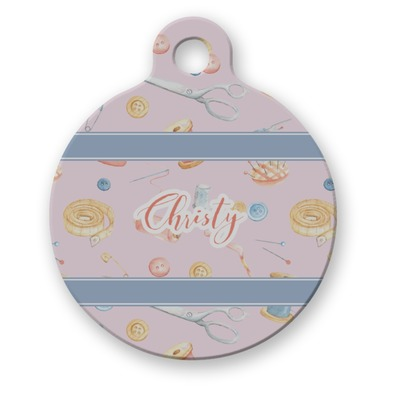 Sewing Time Round Pet Tag (Personalized)