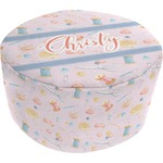 Sewing Time Round Pouf Ottoman (Personalized)