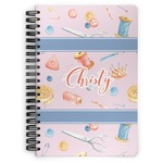Sewing Time Spiral Bound Notebook (Personalized)