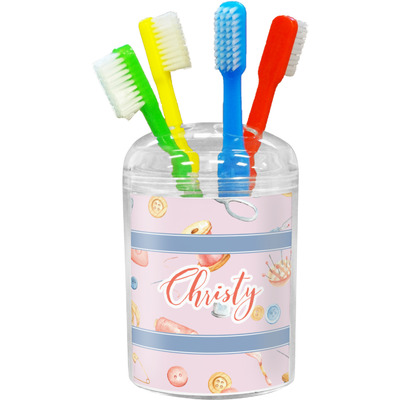 Sewing Time Toothbrush Holder (Personalized)
