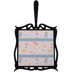 Sewing Time Trivet with Handle (Personalized)