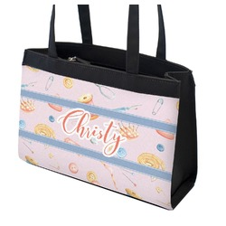 Sewing Time Zippered Everyday Tote (Personalized)
