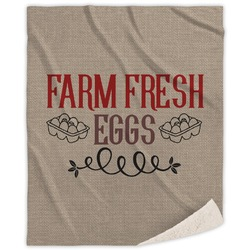 Farm Quotes Sherpa Throw Blanket (Personalized)