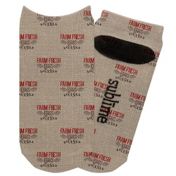 Farm Quotes Adult Ankle Socks (Personalized)