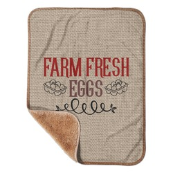 """Farm Quotes Sherpa Baby Blanket 30"""" x 40"""" (Personalized)"""