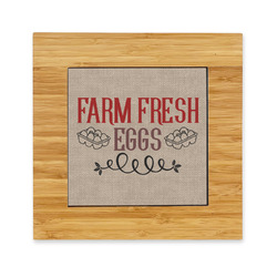 Farm Quotes Bamboo Trivet with Ceramic Tile Insert