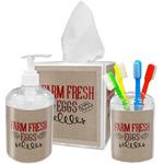 Farm Quotes Acrylic Bathroom Accessories Set