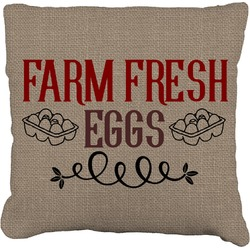 Farm Quotes Faux-Linen Throw Pillow (Personalized)