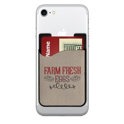Farm Quotes 2-in-1 Cell Phone Credit Card Holder & Screen Cleaner (Personalized)