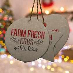 Farm Quotes Ceramic Ornament