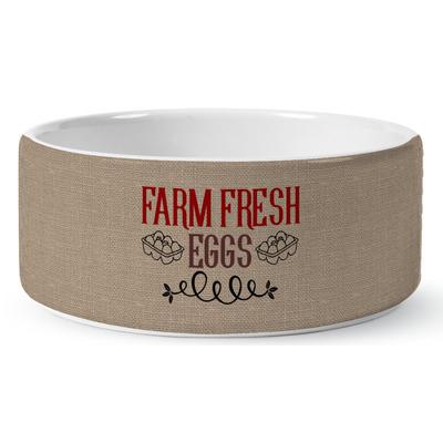 Farm Quotes Ceramic Dog Bowl (Personalized)