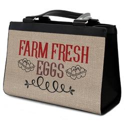 Farm Quotes Classic Tote Purse w/ Leather Trim