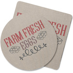 Farm Quotes Rubber Backed Coaster (Personalized)