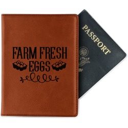 Farm Quotes Leatherette Passport Holder (Personalized)