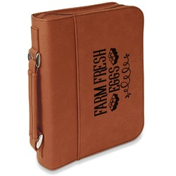 Farm Quotes Leatherette Bible Cover with Handle & Zipper - Large- Single Sided (Personalized)