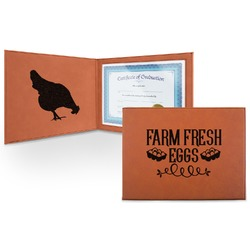 Farm Quotes Leatherette Certificate Holder (Personalized)