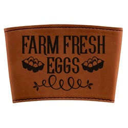 Farm Quotes Leatherette Cup Sleeve