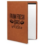 Farm Quotes Leatherette Portfolio with Notepad (Personalized)