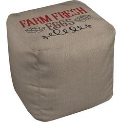 Farm Quotes Cube Pouf Ottoman (Personalized)