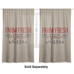 "Farm Quotes Curtains - 56""x80"" Panels - Lined (2 Panels Per Set) (Personalized)"