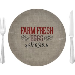 """Farm Quotes 10"""" Glass Lunch / Dinner Plates - Single or Set (Personalized)"""