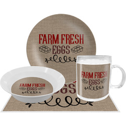 Farm Quotes Dinner Set - 4 Pc (Personalized)