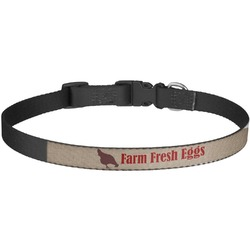Farm Quotes Dog Collar - Large (Personalized)