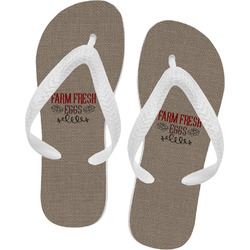 Farm Quotes Flip Flops - XSmall (Personalized)