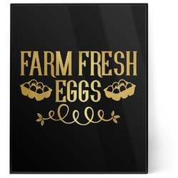 Farm Quotes 8x10 Foil Wall Art - Black (Personalized)